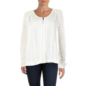 Rachel Roy Women's Zipper Front Open Knit Sweater